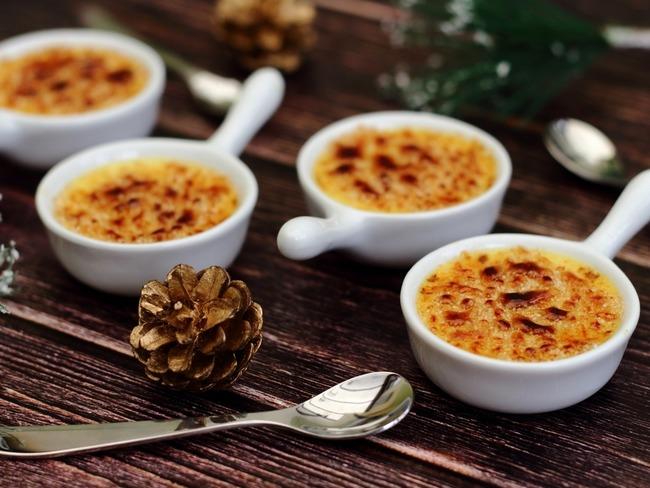 Crème brulée au parmesan et truffes