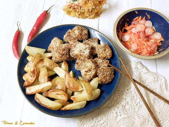 Nuggets de tofu aux saveurs d'Asie