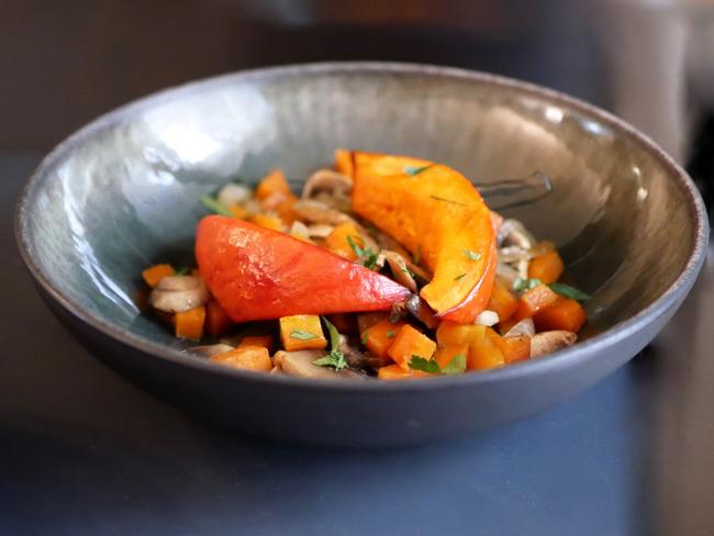 Poêlée de légumes et potimarron rôti