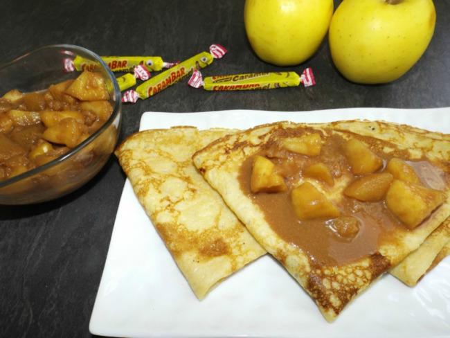Garniture pour crêpes pommes Carambar