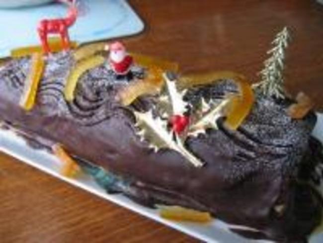 Bûche de Noël Choco-Orange