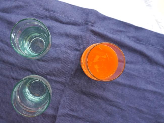 Jus orange, carotte, cannelle et fleur d'oranger