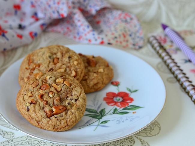 Cookies moelleux aux cacahuètes caramélisées