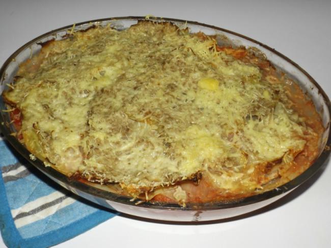 Chou vert en lasagnes