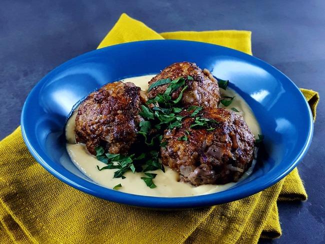 Boulettes bœuf sauce grecque avgolemono
