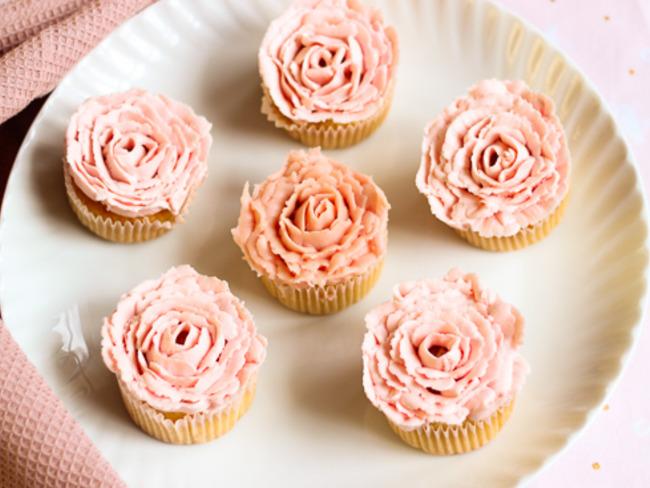 Cupcakes en forme de rose