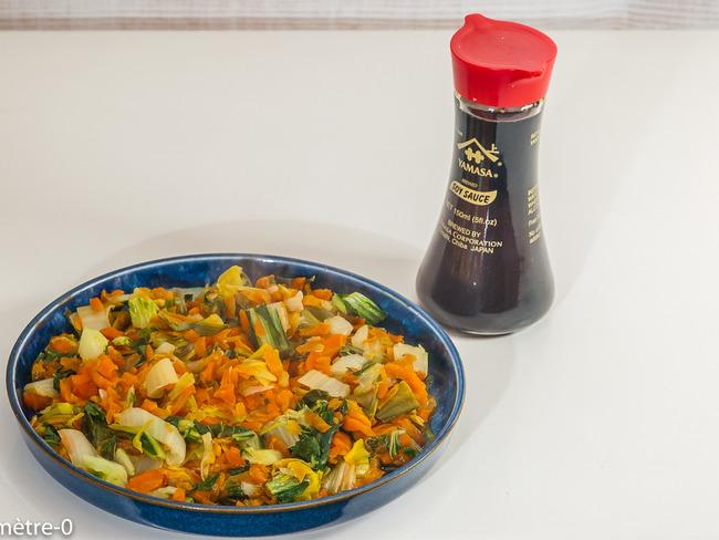 Poêlée de légumes d'hiver, sauce soja