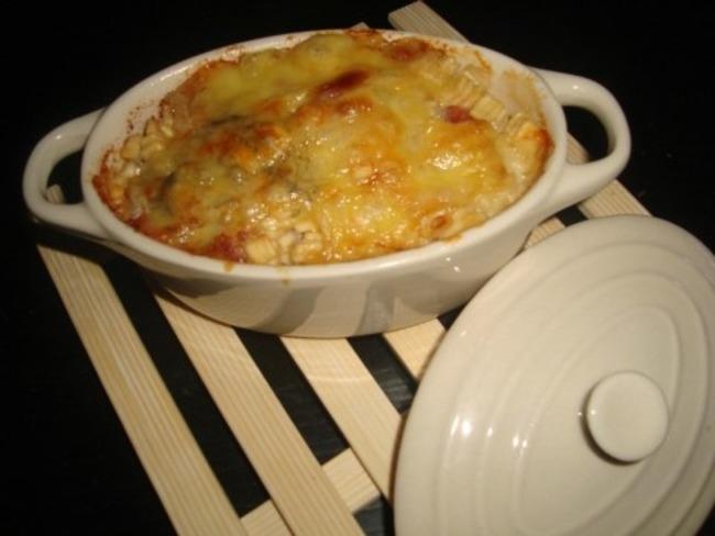 Crozets carbonara gratinés au jambon cru et au beaufort