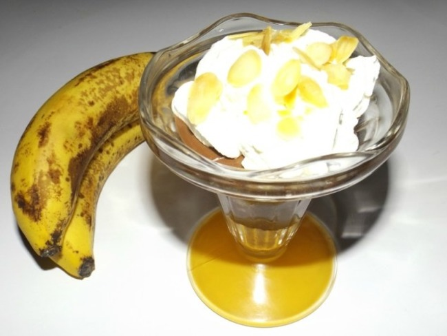 Verrines banane et chocolat façon banana split