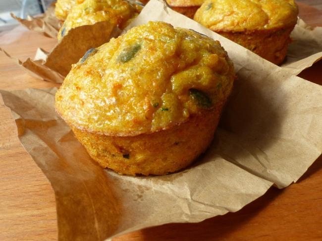 Muffins de quinoa aux carottes et au chèvre frais