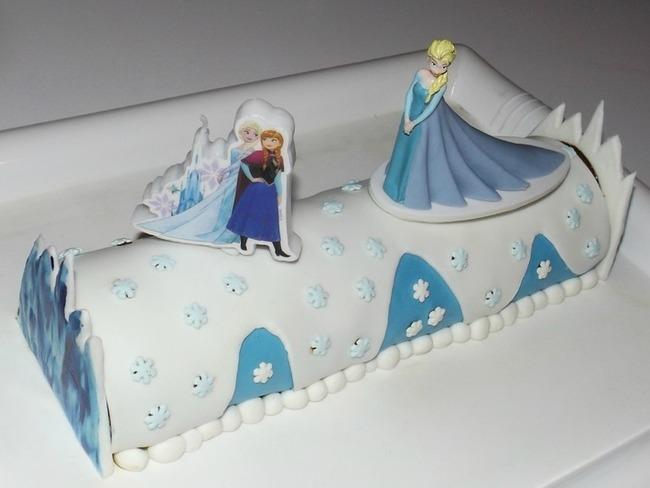 Roulé au chocolat la reine des neiges