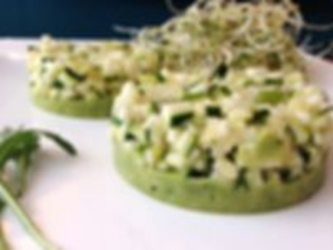 Tartare de légumes verts