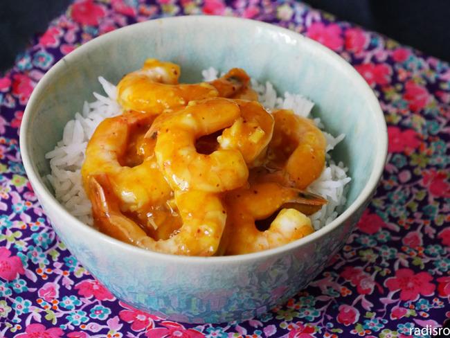 Recette facile et rapide : crevettes sauce orange miel