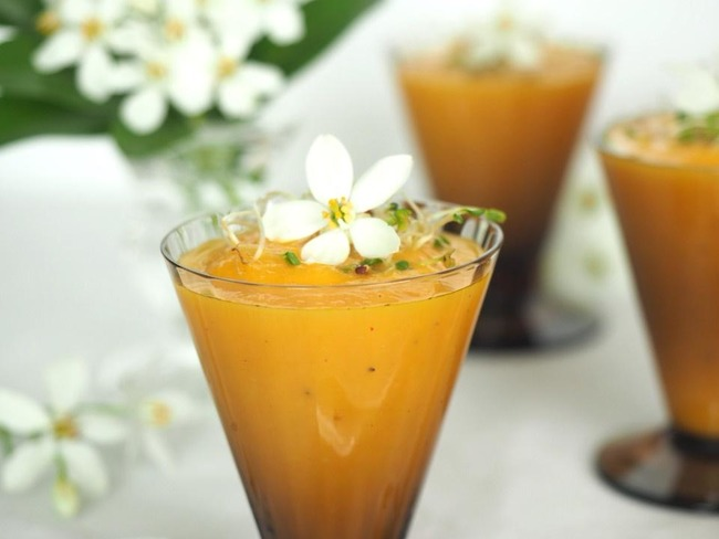Gaspacho de carottes anisé