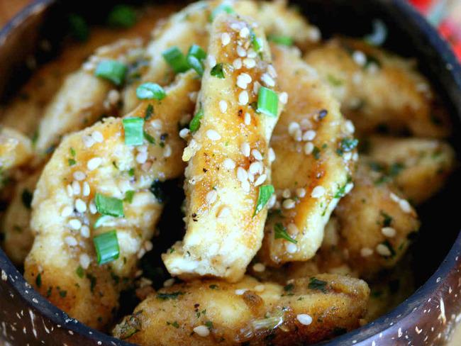 Poulet frit aux graines de sésame