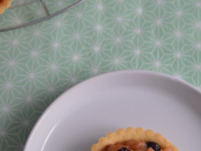 Tartelettes sablées pomme rhubarbe et érable