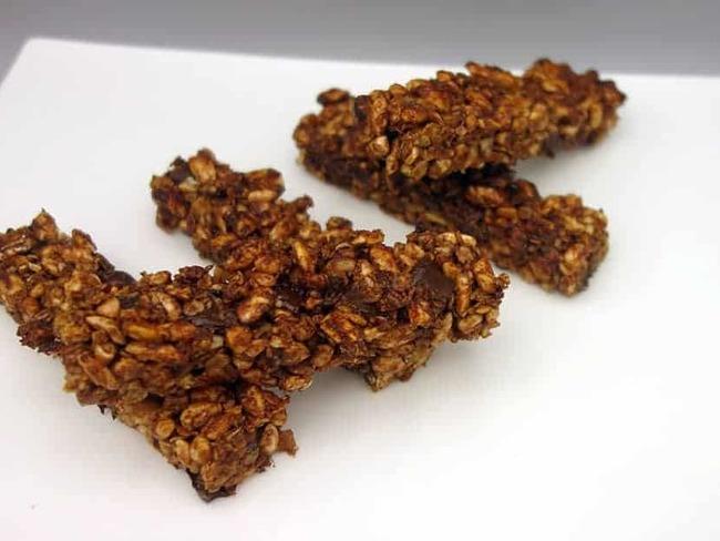 Barres de céréales chocolat noisettes