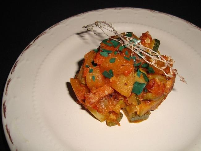 Poêlée de courgette et de pommes de terre