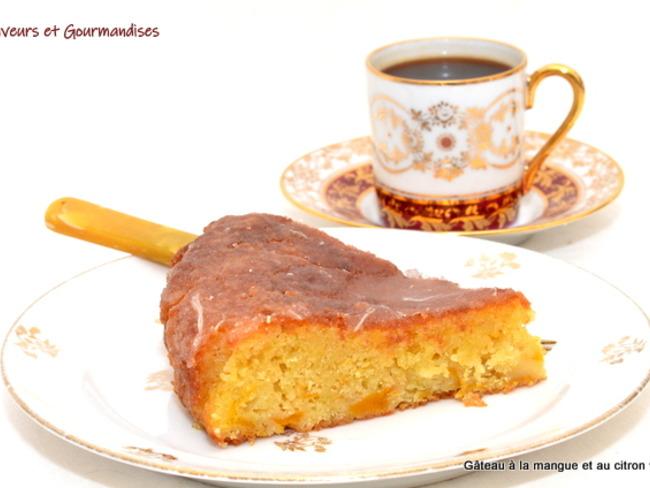 Gâteau à la Mangue et au Citron Vert.