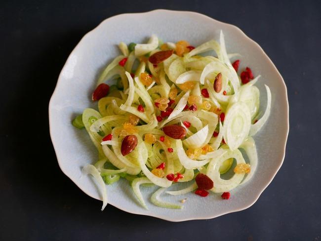 Salade de fenouils aux fruits secs