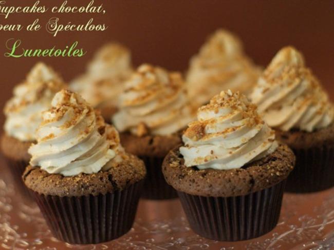 cupcakes chocolat coeur de speculoos - Amour de cuisine