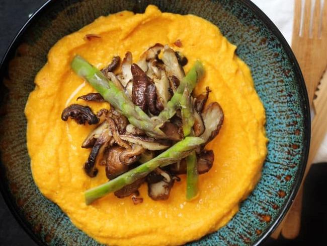 Mousseline de carottes aux champignons