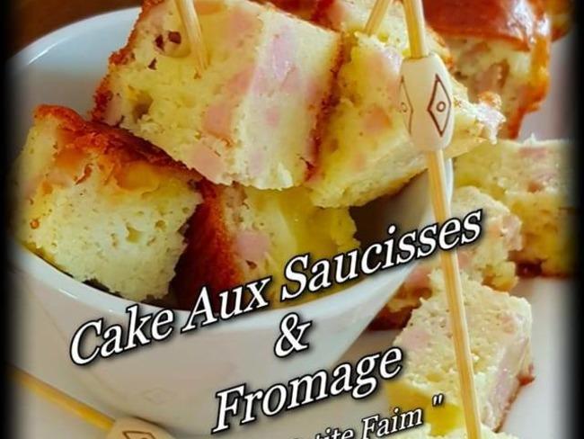 Cake aux saucisses et fromage