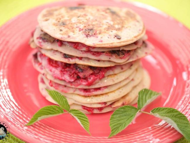 Pancakes express aux framboises