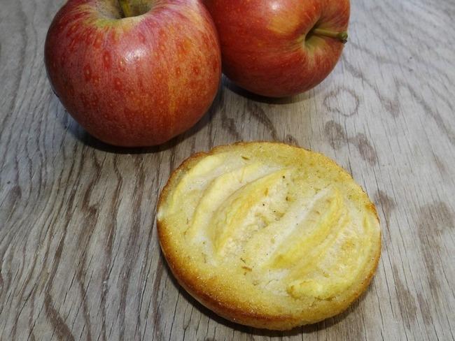 Tartelettes aux pommes à la frangipane