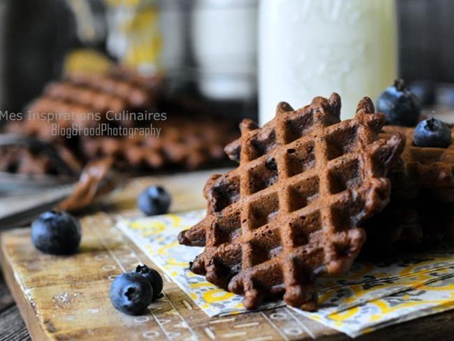 Gaufres croustillantes et moelleuses au cacao