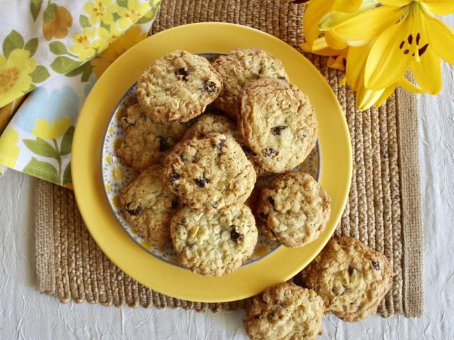Biscuits aux flocons d'avoine et raisins secs