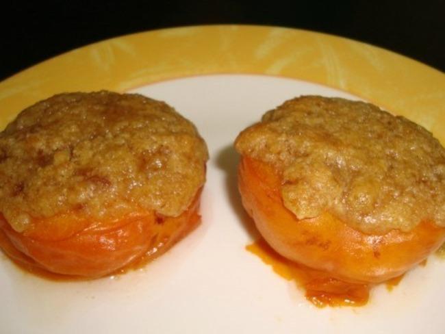Abricot au four façon crumble