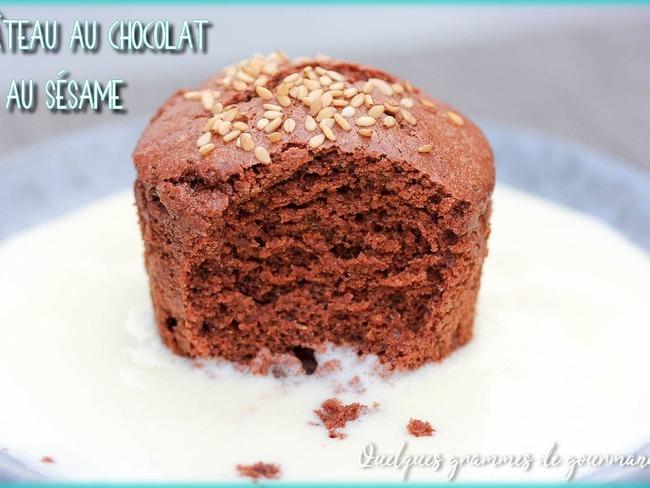 Petit Gateau Au Chocolat Et Au Sesame