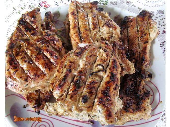 Escalopes de dinde grillées