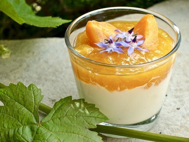 Verrine fromage blanc et abricot