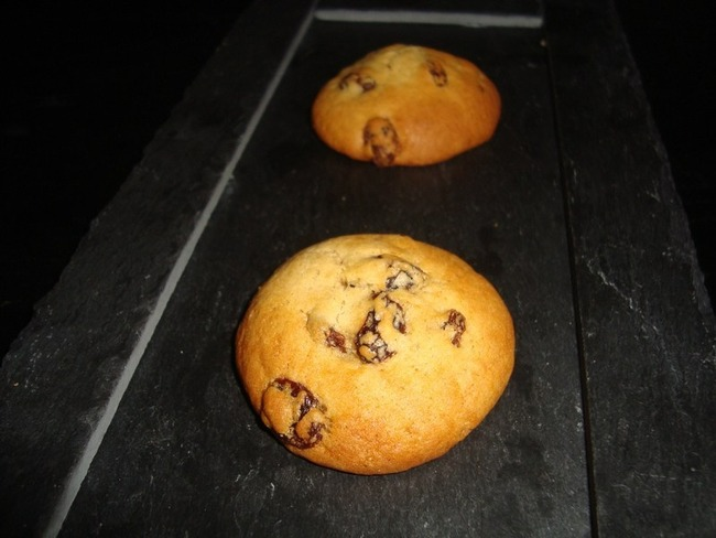 Cookies rhum raisin