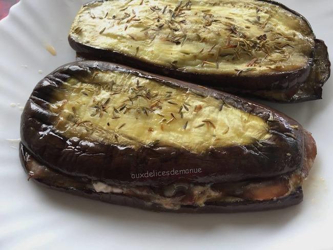 Aubergine panini