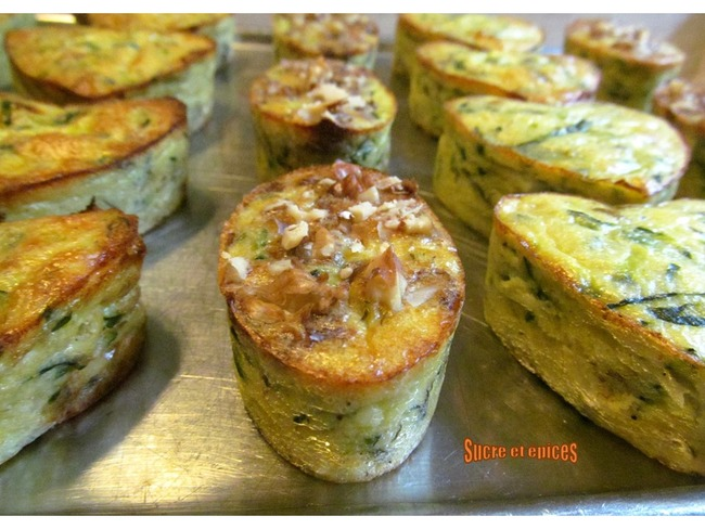 Mini flans de courgette au camembert