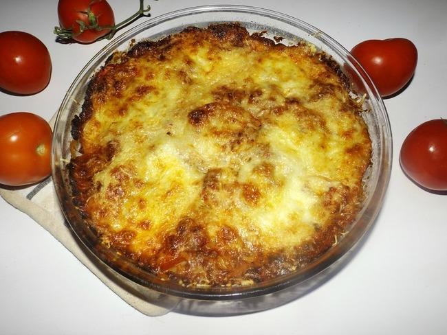 Gratin de cannelloni à la tomate et au thon à la provençale