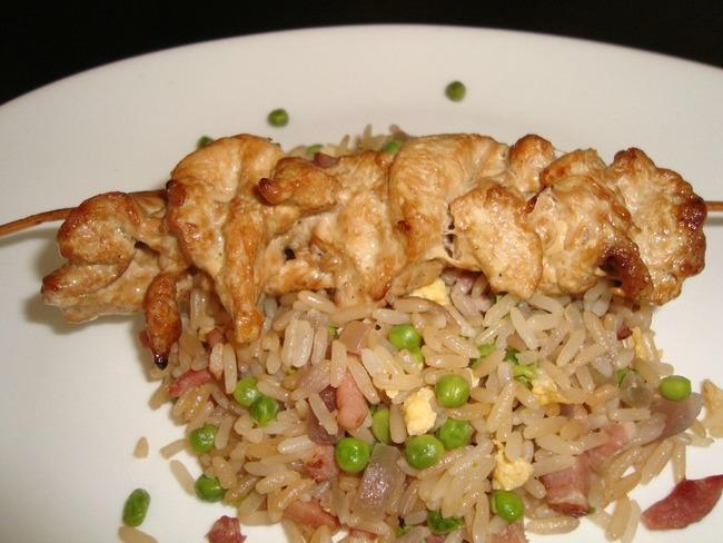 Brochettes de poulet esprit asiatique