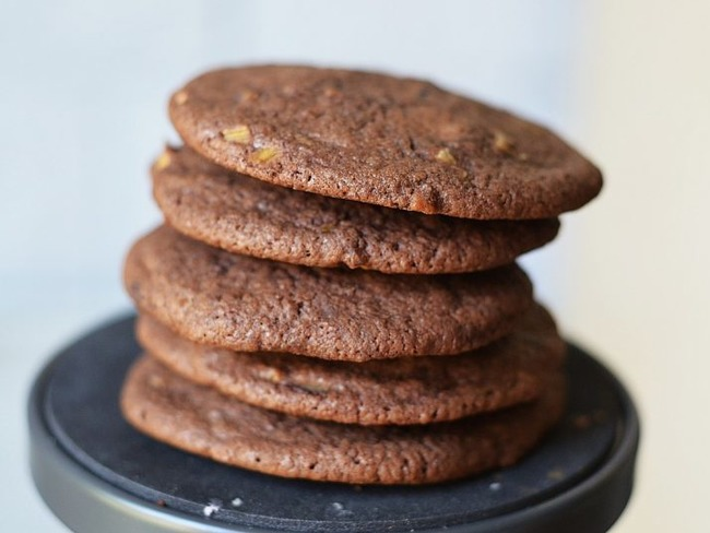 Cookies rhubarbe et chocolat