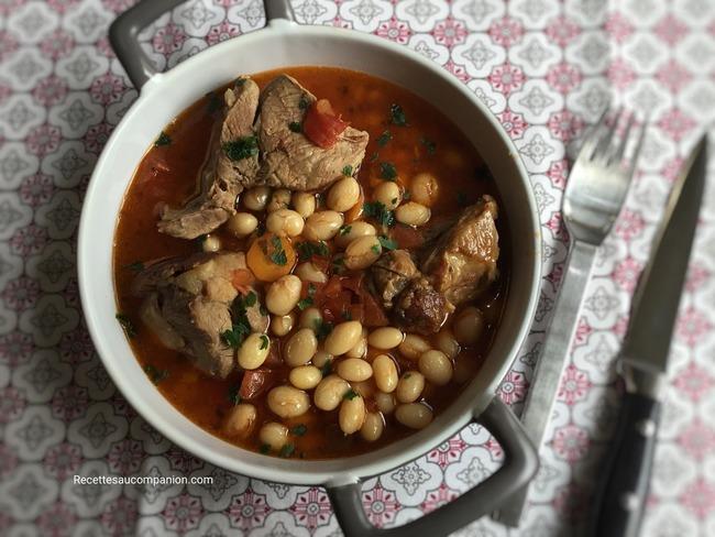 Ragoût de mouton et coco de paimpol
