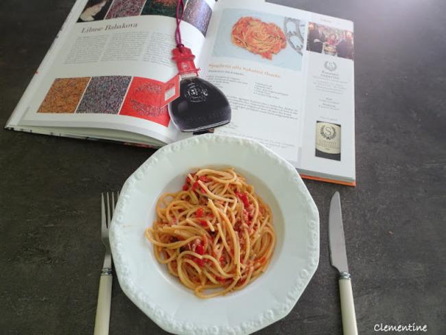 Spaghetti alla Sabatini flambé