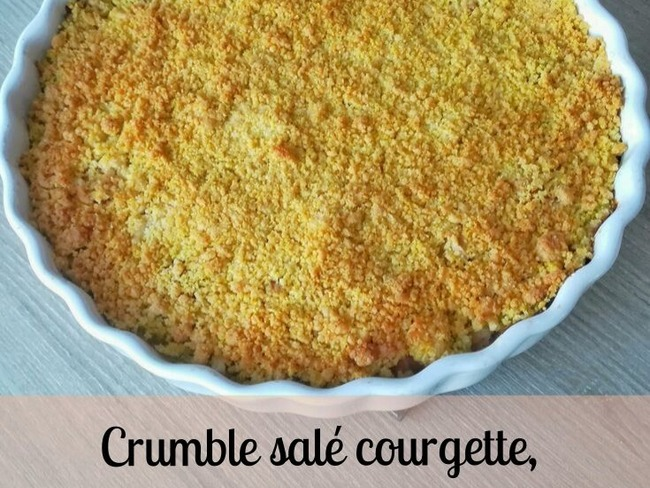 Crumble salé courgettes, chèvre et curry