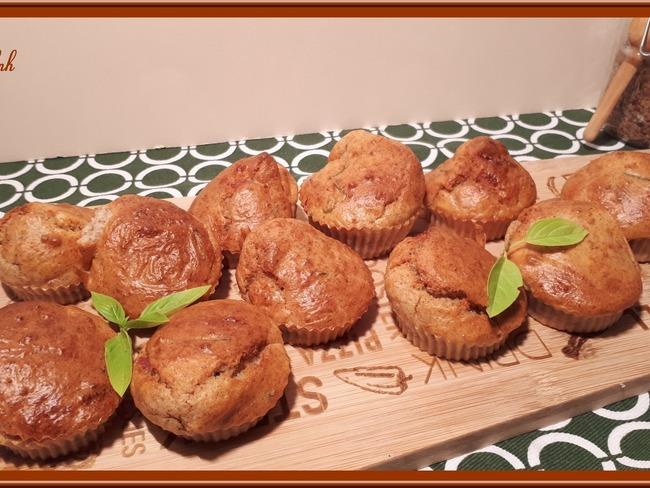 Muffins à la pancetta et chèvre frais