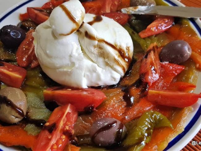 Burrata à la Pepperonata