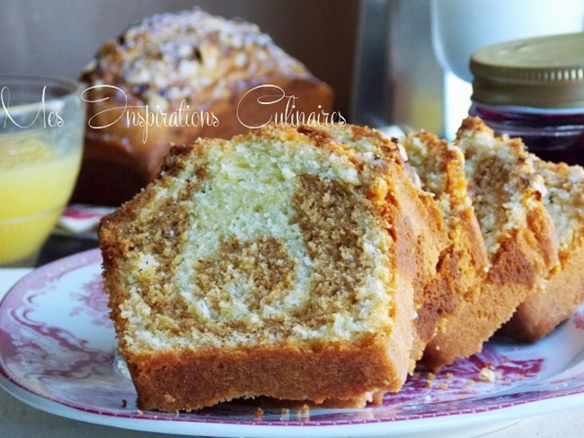 Cake marbré au pralin