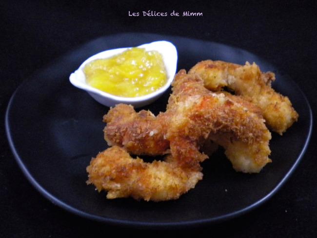 Crevettes croustillantes au chutney de mangue