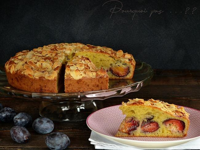 Gâteau quetsches et amandes
