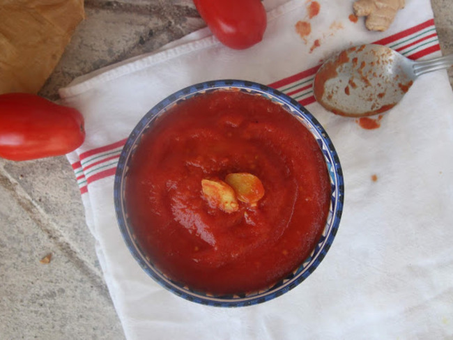 Soupe tomate gingembre